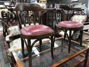 Sale 8822 - Lot 1576 - Pair of Vintage Timber Tub Chairs