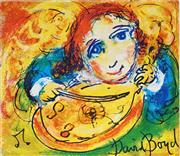 Sale 8930A - Lot 5009 - David Boyd (1924 - 2011) - Angel and Violin 28 x 38.5 cm (sheet size)