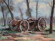 Sale 8992 - Lot 583 - Reg Campbell (1923 - 2008) - The Oldest Inhabitant, Wilcannia 44 x 59 cm (frame: 64 x 80 x 3 cm)