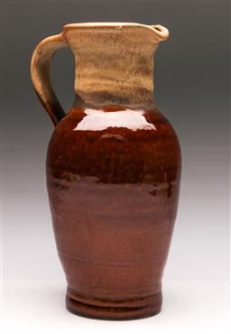 Sale 9131 - Lot 49 - A Brown Glazed West German Pottery Jug (H 34cm)