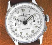Sale 8387A - Lot 8 - A vintage mens Baume and Mercier chronograph wristwatch. 35 mm. Not serviced. Stops and starts.