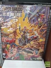 Sale 8421 - Lot 1018 - Vintage and Original Judge Dredd Poster 1983. Image by Ron Smith (54.5cm x 43cm)