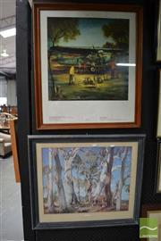 Sale 8487 - Lot 2020 - 2 Prints incl. Pro Hart
