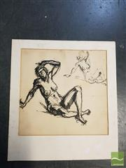 Sale 8552 - Lot 2069 - Artist Unknown - Nude -Studies (double-sided) (size: 36.5 x 37.5cm)