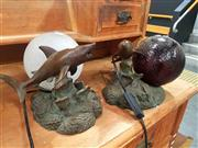 Sale 8676 - Lot 1387 - Pair of Ball Form Sealife Table Lamps