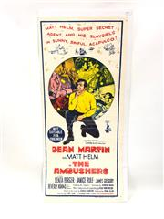 Sale 8750 - Lot 2078 - The Ambushes Movie Poster with Dean Martin As Matt Helm ( 35cm x 75cm)