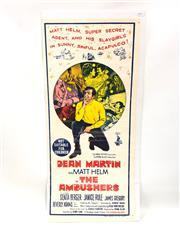 Sale 8732W - Lot 13 - The Ambushes Movie Poster with Dean Martin As Matt Helm ( 35cm x 75cm)