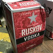 Sale 8801W - Lot 39 - 6x Ruskov Vodka, 700ml