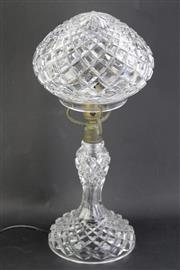 Sale 8802 - Lot 173 - Crystal parlour lamp