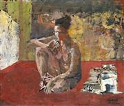 Sale 8847 - Lot 573 - Judy Cassab (1920 - 2015) - Nude in a Room, 2000 27 x 30cm