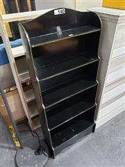 Sale 8988 - Lot 1047 - Waterfall Front Ebonised Bookcase (h: