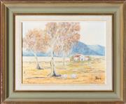 Sale 8530 - Lot 2030 - Artist Unknown - Untitled Australian Rural Vista 14 x 19cm