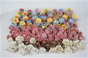 Sale 8381 - Lot 149 - Ceramic Flowers with Crystal Drops for Chandeliers