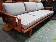 Sale 8566 - Lot 1075 - Vintage Teak Three Seater Lounge