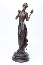 Sale 8715 - Lot 63 - Art Deco Style Figure of A Lady with Mirror