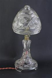 Sale 8802 - Lot 174 - Crystal parlour lamp