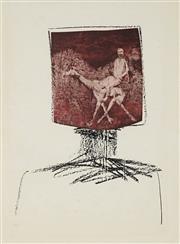Sale 8838A - Lot 5044 - Sidney Nolan (1917 - 1992) - Kelly Head 67.5 x 51cm