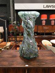 Sale 8859 - Lot 1036 - Art Glass Vase in Swirling Pattern (a.f.)