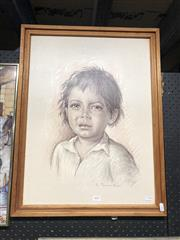 Sale 8861 - Lot 2097 - Decorative Print of a Boy Crying