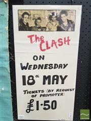 Sale 8421 - Lot 1003 - Rare Original Hand Drawn The Clash by Roy Razor Bill Poster