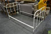 Sale 8489 - Lot 1032 - Antique Metal Bedframe