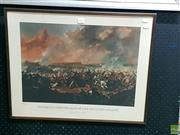 Sale 8582 - Lot 2053 - WATERLOO: THE CHARGE OF THE BRITISH CAVALRY, limited edition art print, frame size: 50 x 62cm