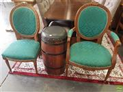 Sale 8601 - Lot 1267 - Pair of Medallion Back Dining Chairs