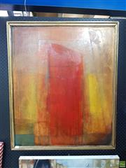 Sale 8619 - Lot 2006 - Bettina Stewart - Abstract oil on board 98 x 35.5cm (frame size signed verso)