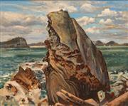 Sale 8657A - Lot 5004 - Ronald Steuart (1898 - 1988) - Coastal Rock Formations 50 x 60cm