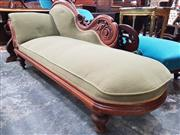 Sale 8831 - Lot 1038 - Victorian Mahogany Upholstered Chaise Longue