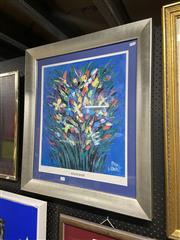 Sale 8995 - Lot 2089 - Pro Hart Wildflowers decorative print, 77 x 68cm (frame) signed