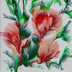 Sale 9093A - Lot 5062 - Renae Wheaton (1974 - ) - Prunus Serrlata 20 x 20 cm