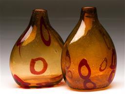 Sale 9114 - Lot 22 - Pair of Art Glass Vases (H:21cm)