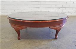 Sale 9137 - Lot 1060 - Oval low lying coffee table (h29 x w92 x d68cm)