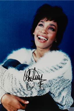 Sale 9152 - Lot 2057A - A signed photo of Whitney Houston