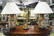 Sale 8347 - Lot 1025 - Pair of San Marino Monarchs Table Lamps (4532)