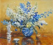 Sale 8467 - Lot 584 - William E. Rees (1933 - ) - Still Life - Foxtail Flowers 63 x 75cm