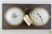 Sale 8481 - Lot 98 - Schatz Dual Royal Mariner Clock And Barometer