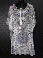 Sale 8514H - Lot 47 - Iona Long Silk Kaftan Top with sleeves - one size