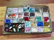 Sale 8629 - Lot 1060 - Box Crystal -Mineral + 1 Fossil