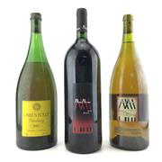 Sale 8611W - Lot 49 - 3x Hunter Valley Magnums - 1x 1980 Lakes Folly Chardonnay, 1x 2002 Molly Morgan Shiraz, 1x 2002 Molly Morgan Partners Reserve Char...