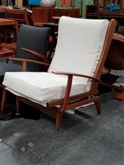 Sale 8684 - Lot 1058 - Mid Century Lounge Chair with Upholstered Seat and Back