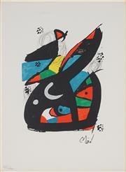 Sale 8938A - Lot 5038 - Joan Miro (1893 - 1983) - La Melodie Acide, 1980 32 x 24 cm (frame: 54 x 46 x 3 cm)