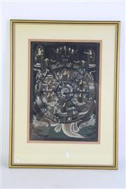 Sale 8894 - Lot 65 - A Framed Hand Painted Thangka (31cm x 22cm)
