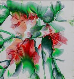 Sale 9093A - Lot 5063 - Renae Wheaton (1974 - ) - Sakura 20 x 20 cm