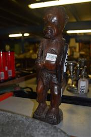 Sale 8351 - Lot 46 - African Carved Timber Fisherman
