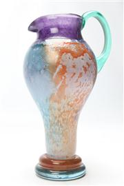 Sale 8662 - Lot 65 - Kosta Boda Glass Jug, signed Kjell Engman