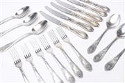 Sale 8685 - Lot 22 - Russian Suite Of Plated Cutlery