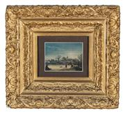 Sale 8804A - Lot 166 - A framed photograph of a Rembrandt scene in highly decorative frame, image size 13 x 17cm