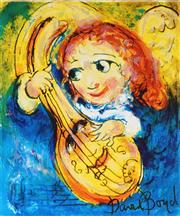 Sale 8930A - Lot 5011 - David Boyd (1924 - 2011) - Muscian with Mandolin 38.5 x 28.5 cm (sheet size)